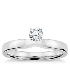 Low Dome Comfort Fit Engagement Ring in 14k WG (2.5 mm)